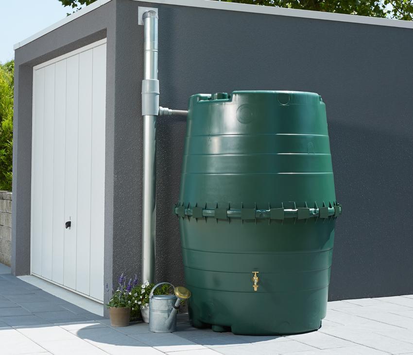 1300l TOP-Tank Regenspeicher dunkelgrün - Teil der Regenwassernutzungsanlage
