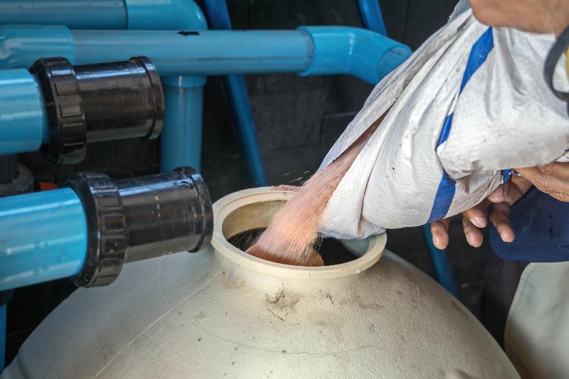 Teichfilter in der Form eines Sandfilters