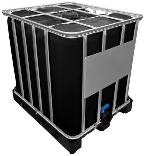 1000l IBC Container SCHWARZ auf PE-Palette NEU - Wasserversorgung auf der Baustelle