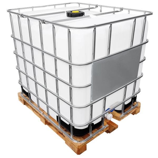 1000l IBC Wassertank GESPÜLT auf Holzpalette - Rebottling oder Rekonditionierung