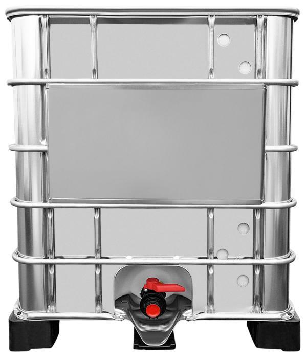 1000l IBC Wassertank mit Stahlmantel auf Palette GESPÜLT