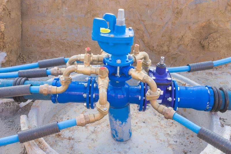 Anschluss eines Wassernetzes