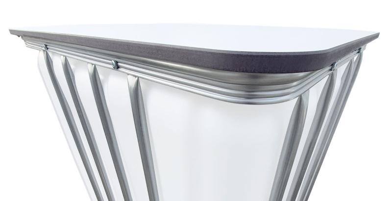 Tischplatte (Weiß) für IBC Container - für beleuchtete Partytische