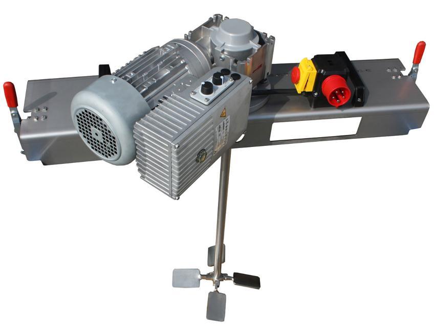 IBC Schneckengetrieberührwerk mit E-Antrieb 5000 m/Pas. Anschlusshähne für den IBC-Container