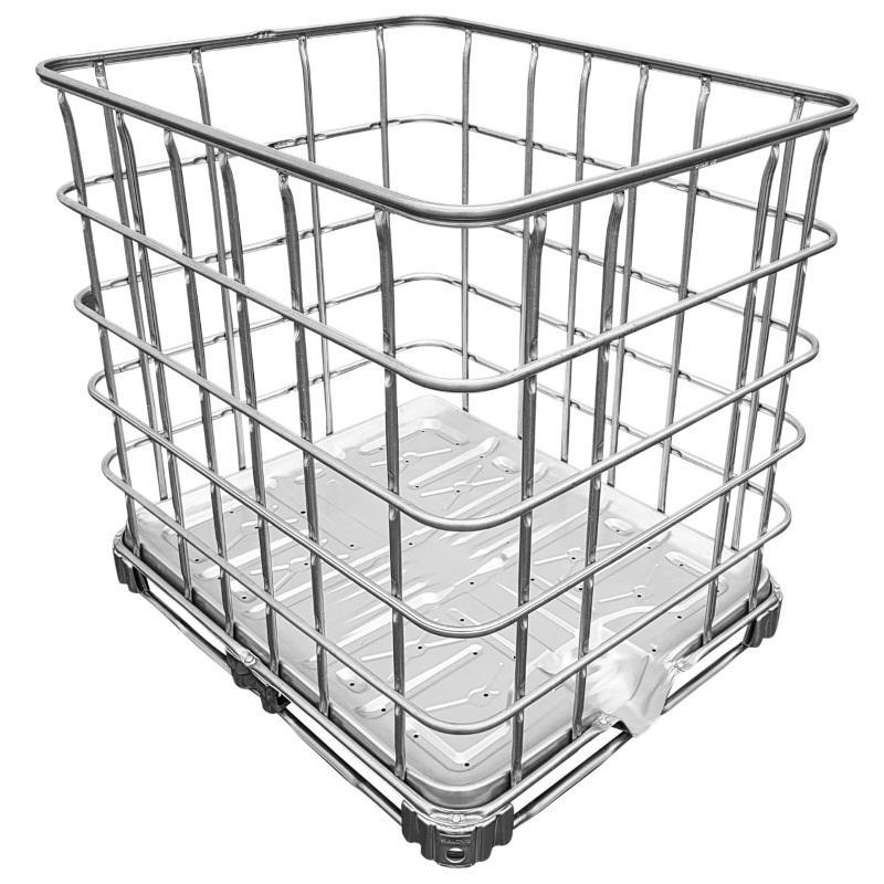 IBC Gitterbox auf Stahlpalette - IBC-Palette