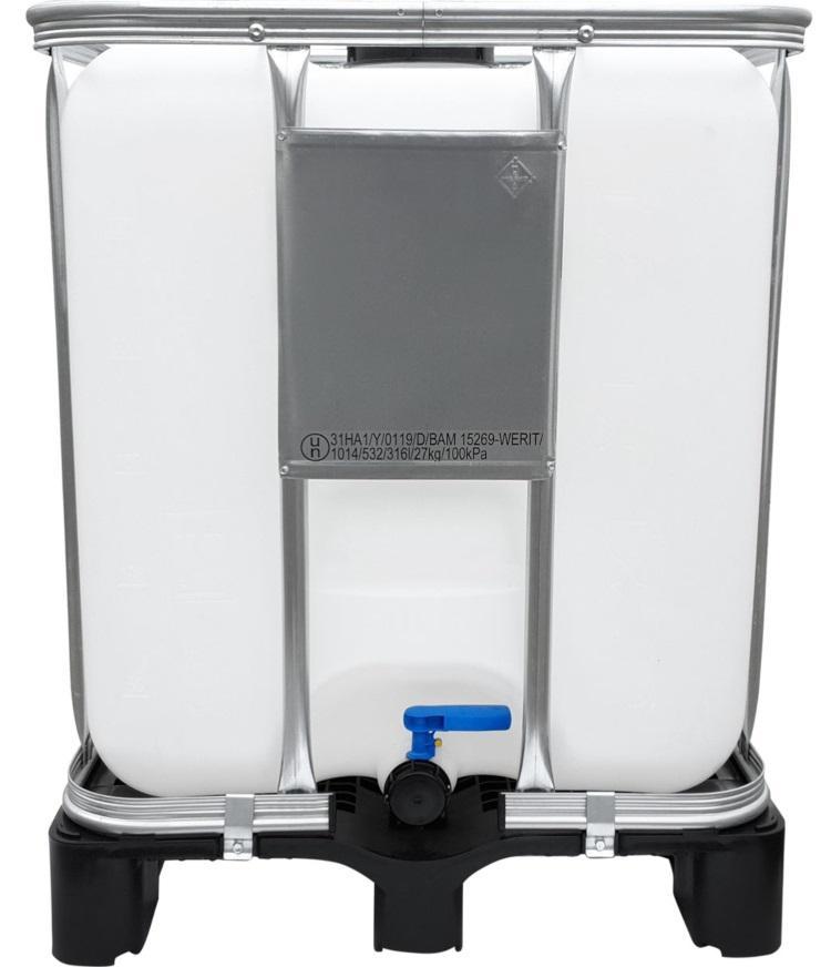 300l IBC Container UN-Zulassung auf PE-Palette NEU Containerpaletten aus Kunststoff