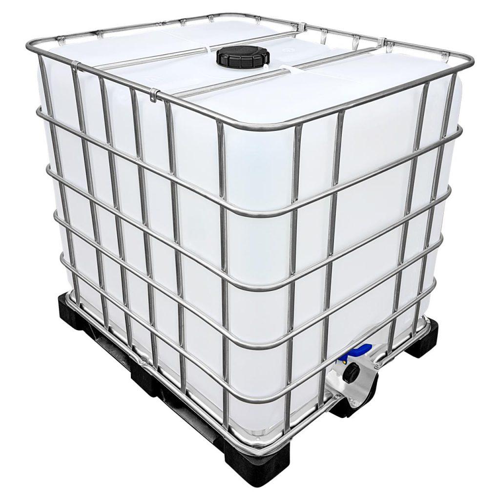 1000l IBC Wassertank auf PE-Palette (FOOD) REBO NEUWERTIG
