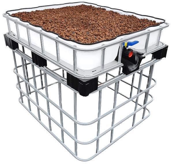 200l IBC Hochbeet Podest Farming Speicher +SET Gurken im Hochbeet anbauen