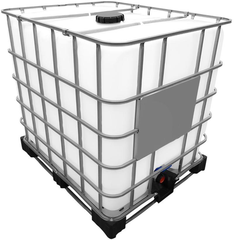 1000l IBC Wassertank auf Stahl/PE-Palette REBOTTLED IBC Container Abwasser