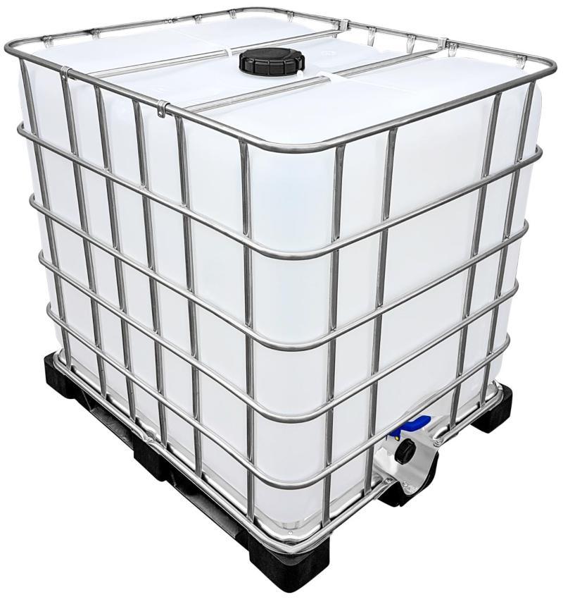 1000l IBC Wassertank auf PE-Palette (FOOD) REBO NEUWERTIG Regenwasserbehälter