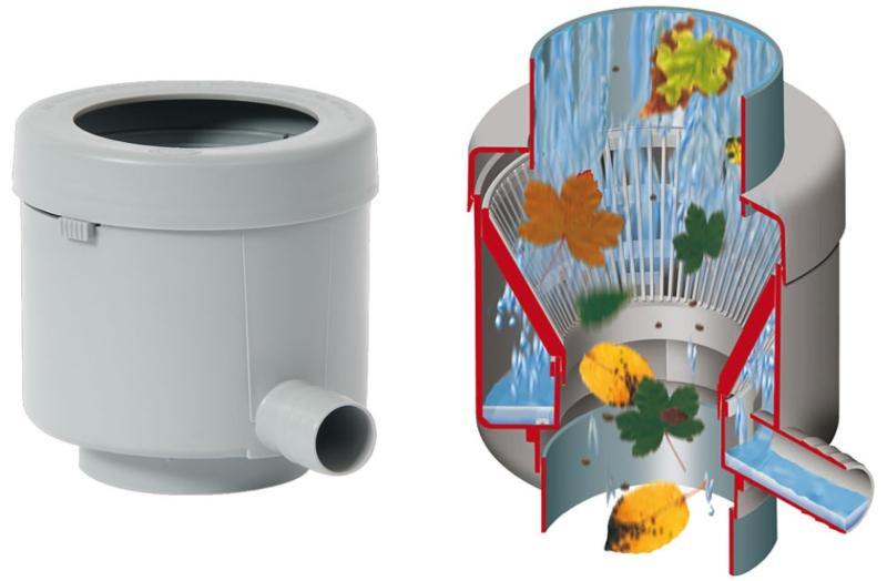 Füllautomat de luxe für DN 70-100 Fallrohr bis 80m² Dachfläche Welche Möglichkeiten bietet ein Regenwasserfilter?