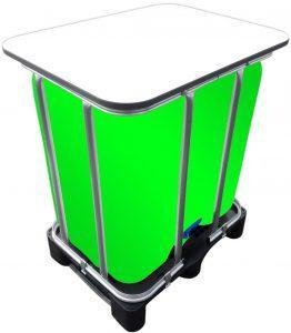300l IBC LED Kubik® Stehtisch auf PE-Palette IBC-Tische