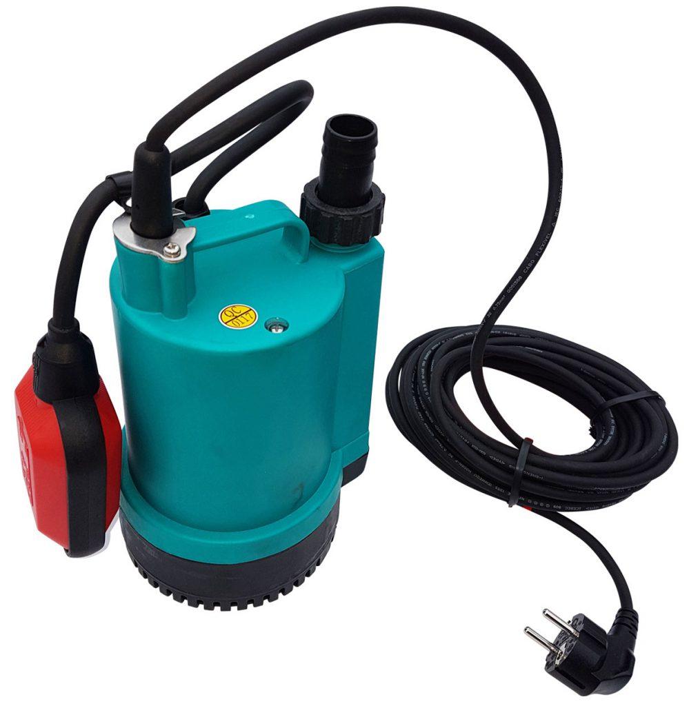 Tauchpumpe flachabsaugend mit Schwimmer (230V) Wasserdurchfluss messen