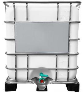 1000l IBC Wassertank GESPÜLT (FOOD) auf PE-Palette Wassertanks gespült