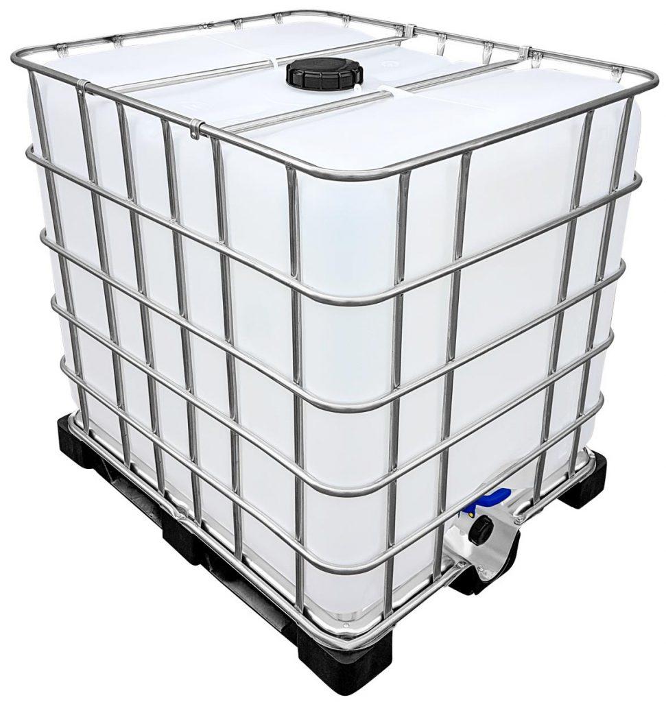 1000l IBC Wassertank auf PE-Palette (FOOD) REBO NEUWERTIG Glockensiphon