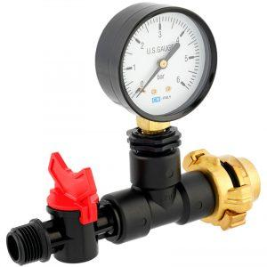 Messgerät mit Manometer für Wassermenge Druck/Durchfluss Verlegerohre für die Gartenbewässerung