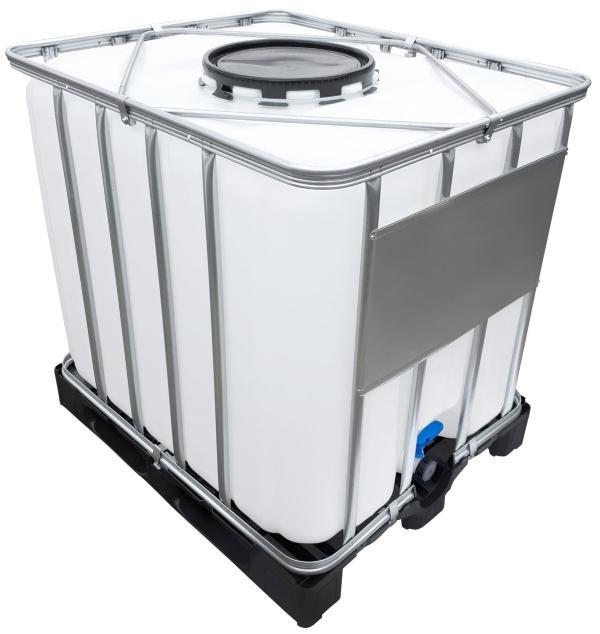 1000l IBC Container (Mannloch DN 400) auf PE-Palette NEU - Ermittlung vom Gewicht eines IBC Containers