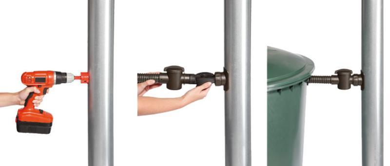 SPEEDY Regensammler für DN 70-100 Fallrohr bis 80m² Dachfläche Fallrohranschluss