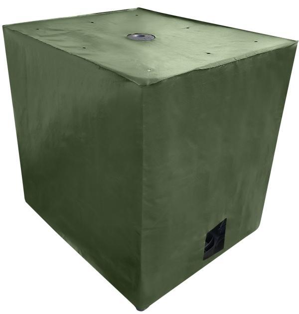 IBC Cover UV-Schutz Gewebe mit Klettverschluss in Grün - Algenschutz für den IBC