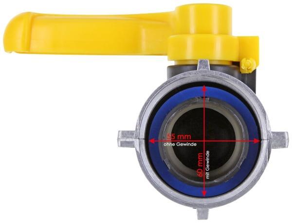 IBC Kugelhahn S60x6 (60mm) ALU Überwurf Camlock EPDM DN50