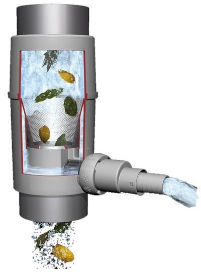 Regendieb Pro für DN 70-100 Fallrohr bis 200m² Dachfläche