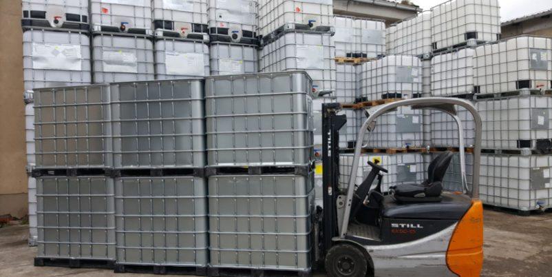 Reigen von IBC Containern - Gewicht eines IBC Containers ermitteln