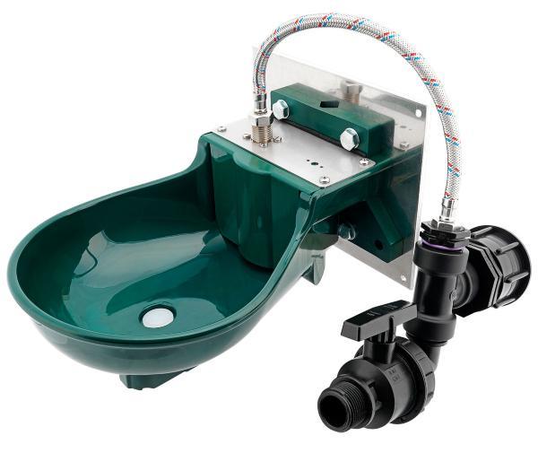 IBC Adapter S60x6 - Pferdetränke PE inkl. Anschlußset - Wassertränke für den IBC