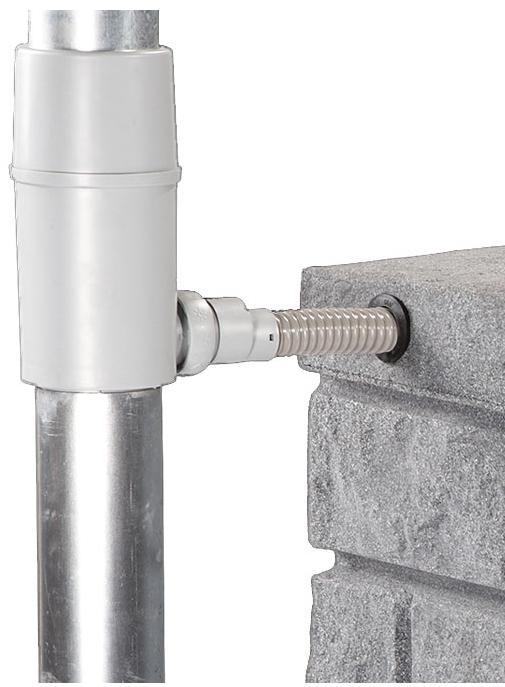 Regendieb Pro für DN 70-100 Fallrohr bis 200m² Dachfläche - Fallrohrfilter