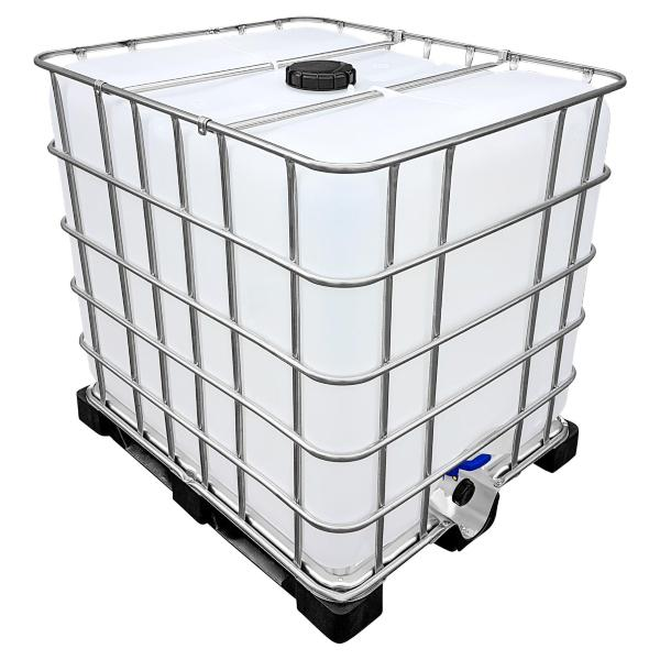 1000l IBC Wassertank auf PE-Palette (FOOD) NEUWERTIG