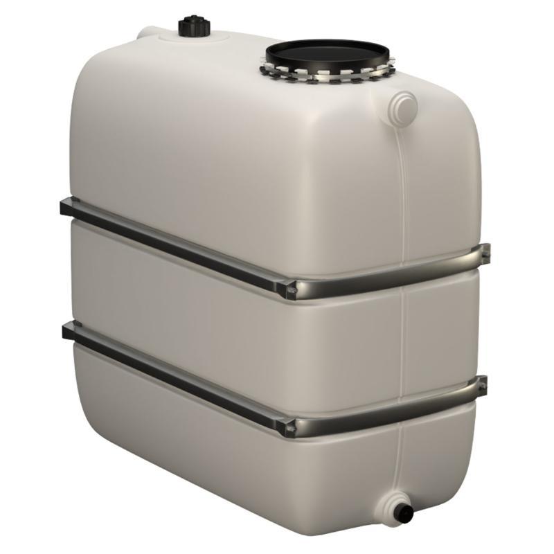 Lagertank (Bandagen) mit Einlauf/Auslaufstutzen & Domöffnung