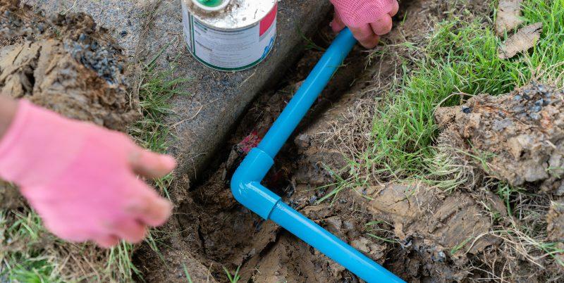 PVC Rohr als Bewässerungsrohr
