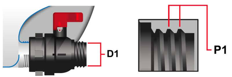 IBC Kugelhahn S60x6 (60mm) ALU Überwurf EPDM DN50