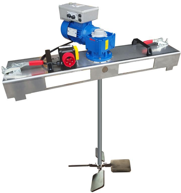 IBC Schneckengetriebe Rührwerk mit E-Antrieb 2000 m/Pas.