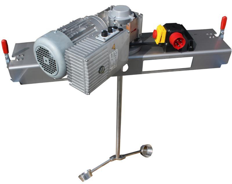 IBC Schneckengetrieberührwerk mit E-Antrieb 10000 m/Pas. Effektive Tankrührwerke