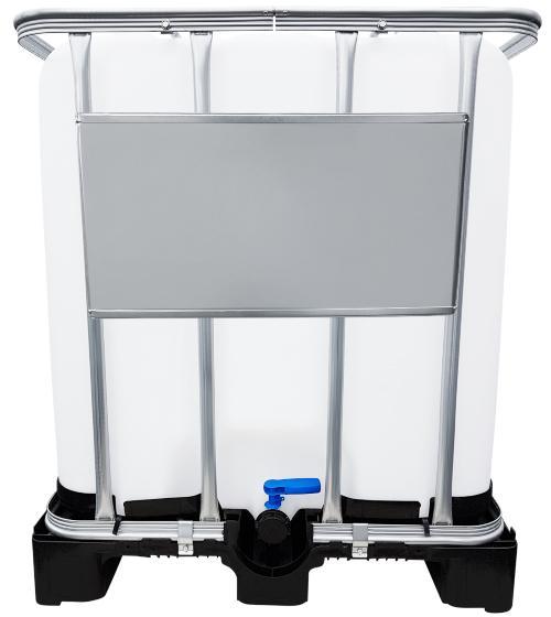 1000l IBC Wassertank GESPÜLT auf Kunststoffpalette