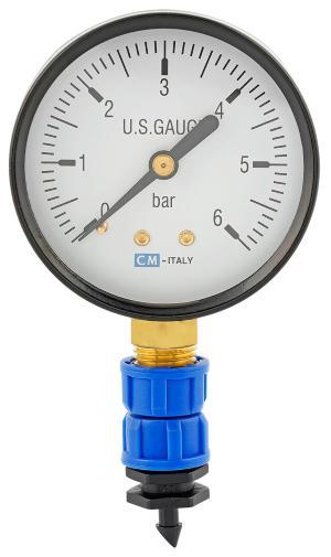 Manometer Druckanzeige für Tropfrohr/Hauptleitung