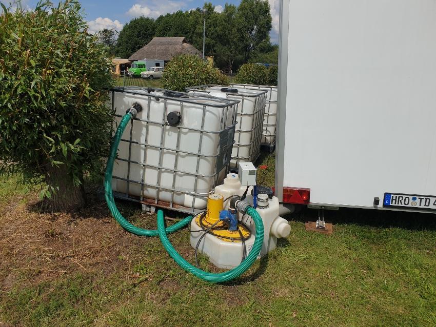 Eine Anwendungsmöglichkeit liegt in einer mobilen Wasserversorgung