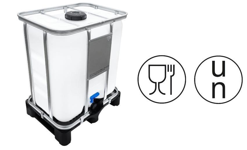 300l IBC Container UN-Zulassung auf PE-Palette NEU | lebensmittecht | Flüssigkeitscontainer