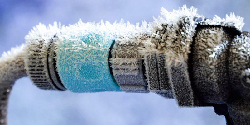 Vereister Wasseranschluss - Winterentleerung ist notwendig