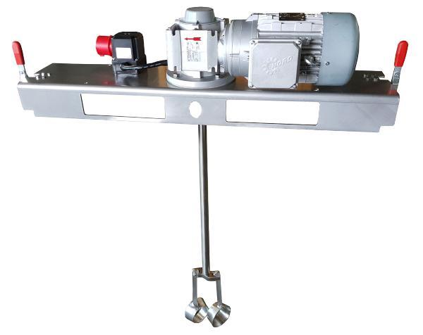 IBC Schneckengetrieberührwerk mit E-Antrieb 10000 m/Pas.
