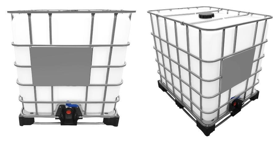 1000l IBC Wassertank auf Stahl/PE-Palette REBOTTLED