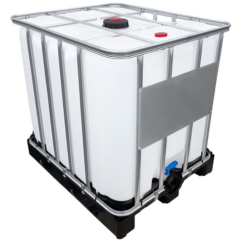 1000l IBC Container für AdBlue® (CDS) auf PE-Palette mit Auslaufstutzen