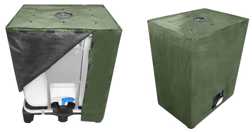 300l IBC Cover UV-Schutz Gewebe mit Klettverschluss in Grün