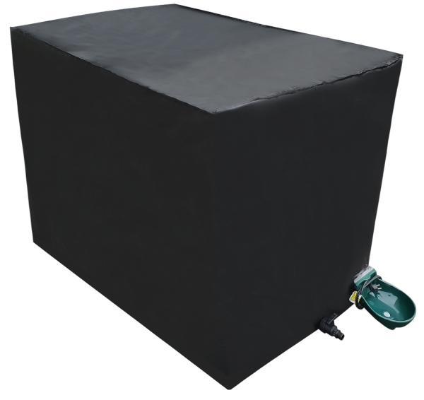 600l IBC Container mit Tränkebecken inklusive Frostschutzhaube