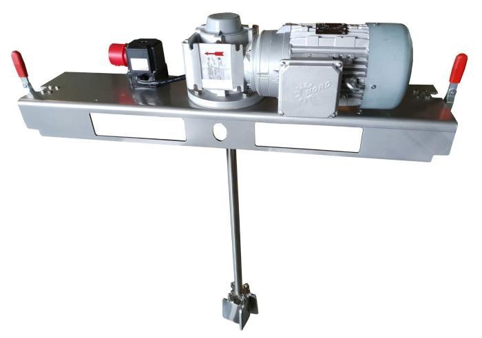 IBC Stirnradgetrieberührwerk mit E-Antrieb 5000 m/Pas. - Containermischer für den IBC