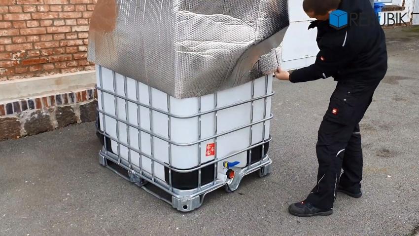 IBC Thermohaube geschlossen Frostschutz - IBC Container isolieren