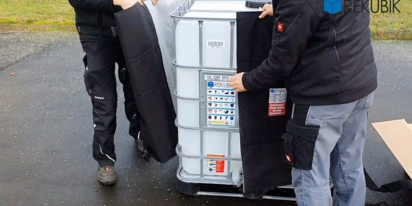 IBC Container mit Heizmantel - Isoliermäntel