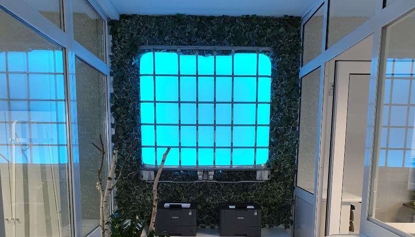600l IBC LED Kubik® auf GFK-Palette - Leuchtmöbel