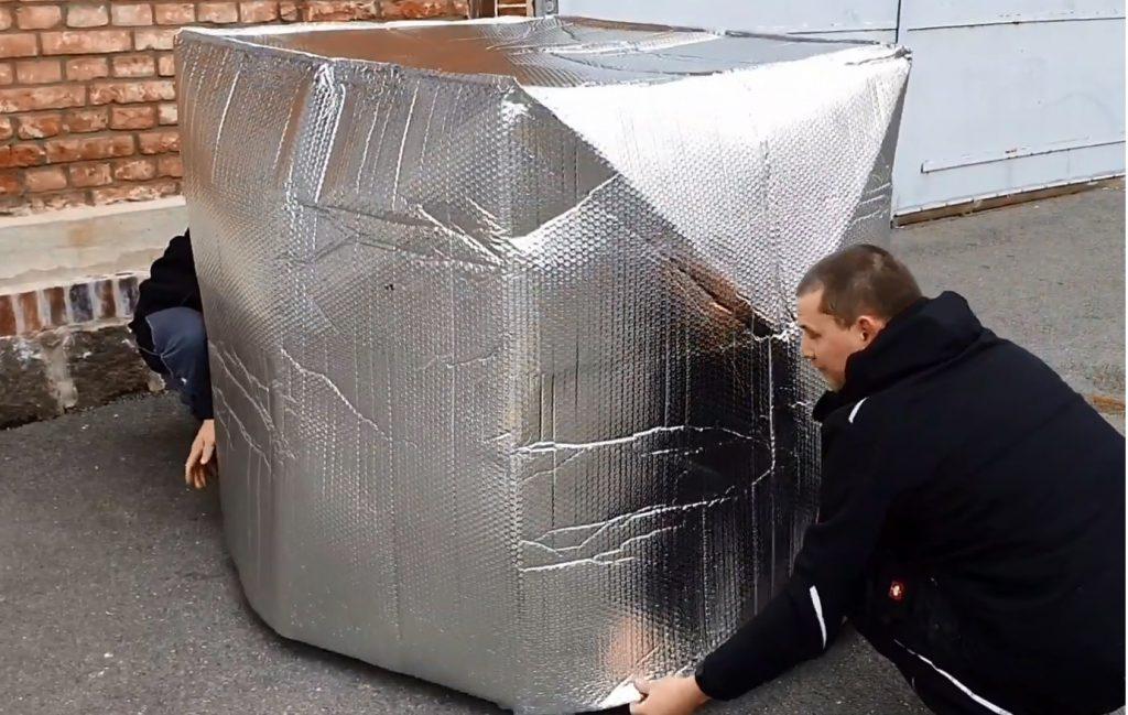 IBC Thermohaube geschlossen Frostschutz - Effektive Containerheizer