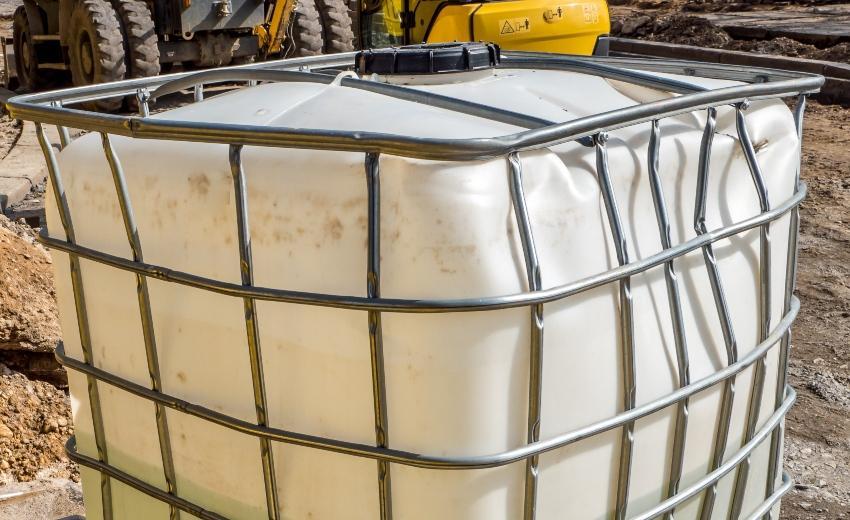 Verformter IBC Container - IBC Blase muss erneuert werden